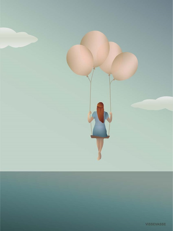 Vissevasse, Balloon dream 30x40 PLAKAT
