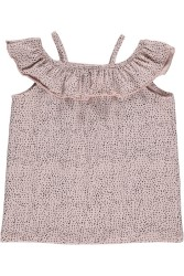 GRO, Girly Top Aesthetic Dots, Light Rose Grey