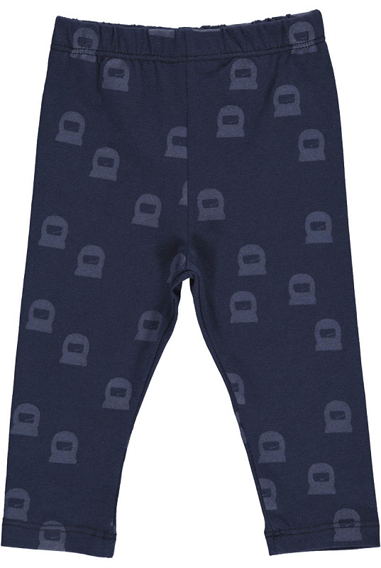 GRO, Leggings med astronaut, Navy, STR 92