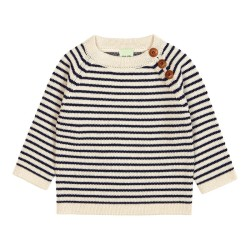 FUB, Baby sweater, Ecru/navy, STR 68
