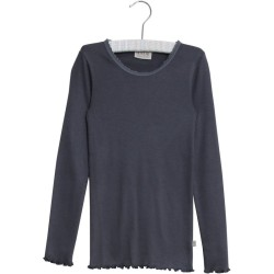 Wheat, Rib lace t-shirt, Greyblue