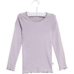 Wheat, Rib lace t-shirt, Soft lavender