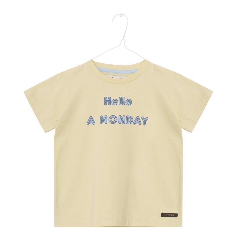 A Monday, Hello t-shirt, Banana crepe