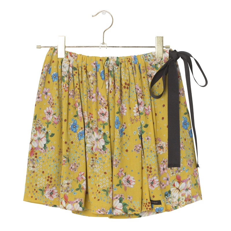 A Monday, Flora skirt, Minion yellow