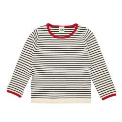 FUB, Striped blouse, Ecru/navy