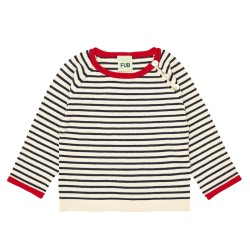 FUB, Baby striped blouse, Ecru/navy