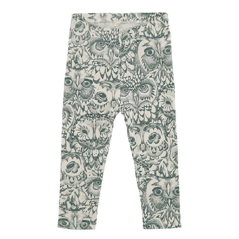 Soft Gallery, LIMITED Owl leggings, Green