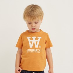Woodwood, Ola  kids t-shirt, Orange