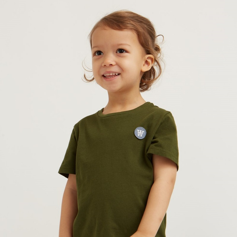 Woodwood, Ola kids t-shirt, Army green