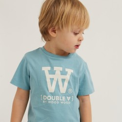 Woodwood, Ola kids t-shirt, Dusty blue