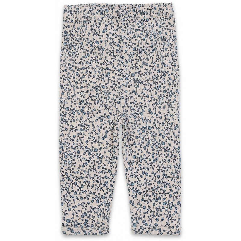 Konges sløjd, New born leggings, Blue blossom mist