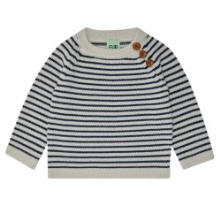 FUB, ULD sweater, Ecru/navy