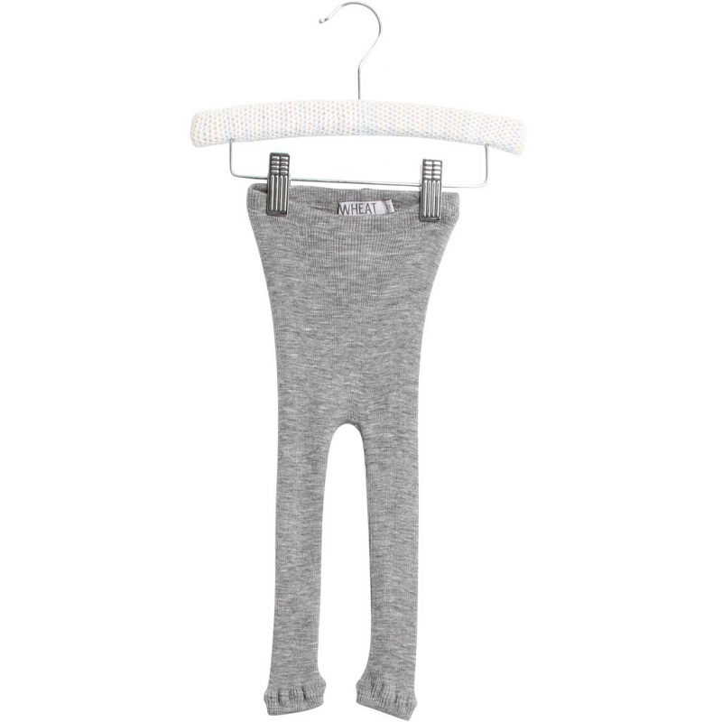 Wheat, Wool rib leggings, Melange grey