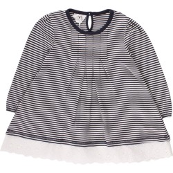 Stripe dress, Navy, 6-7ÅR