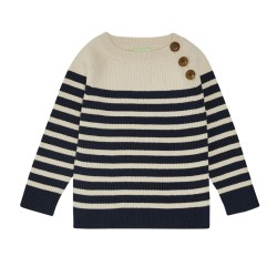 FUB, Baby sweater, Ecru navy
