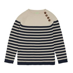FUB, Sweater, ecru/navy