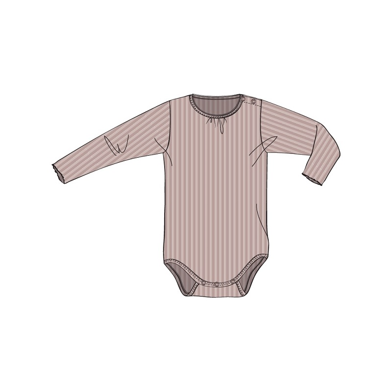 Wheat, Rib lace body, Rose powder