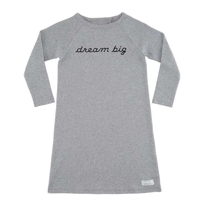 Dream big natkjole, Grey melange
