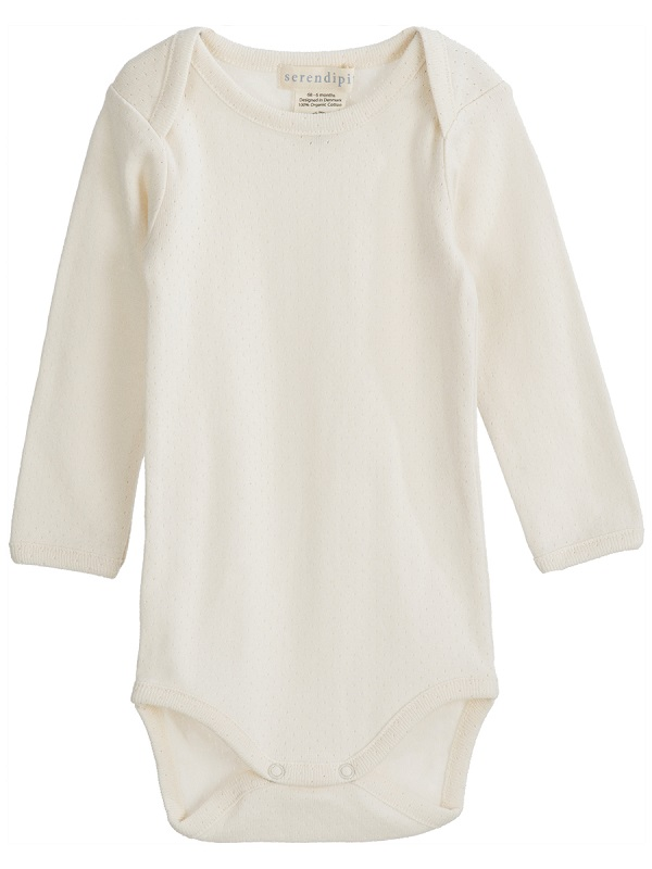 Serendipity, Baby body, Offwhite pointelle
