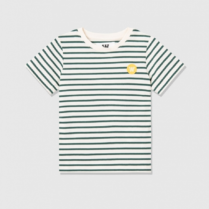 Wood Wood, Ola t-shirt, Off-white/faded green