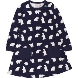 Bear dress baby, Navy, STR 86